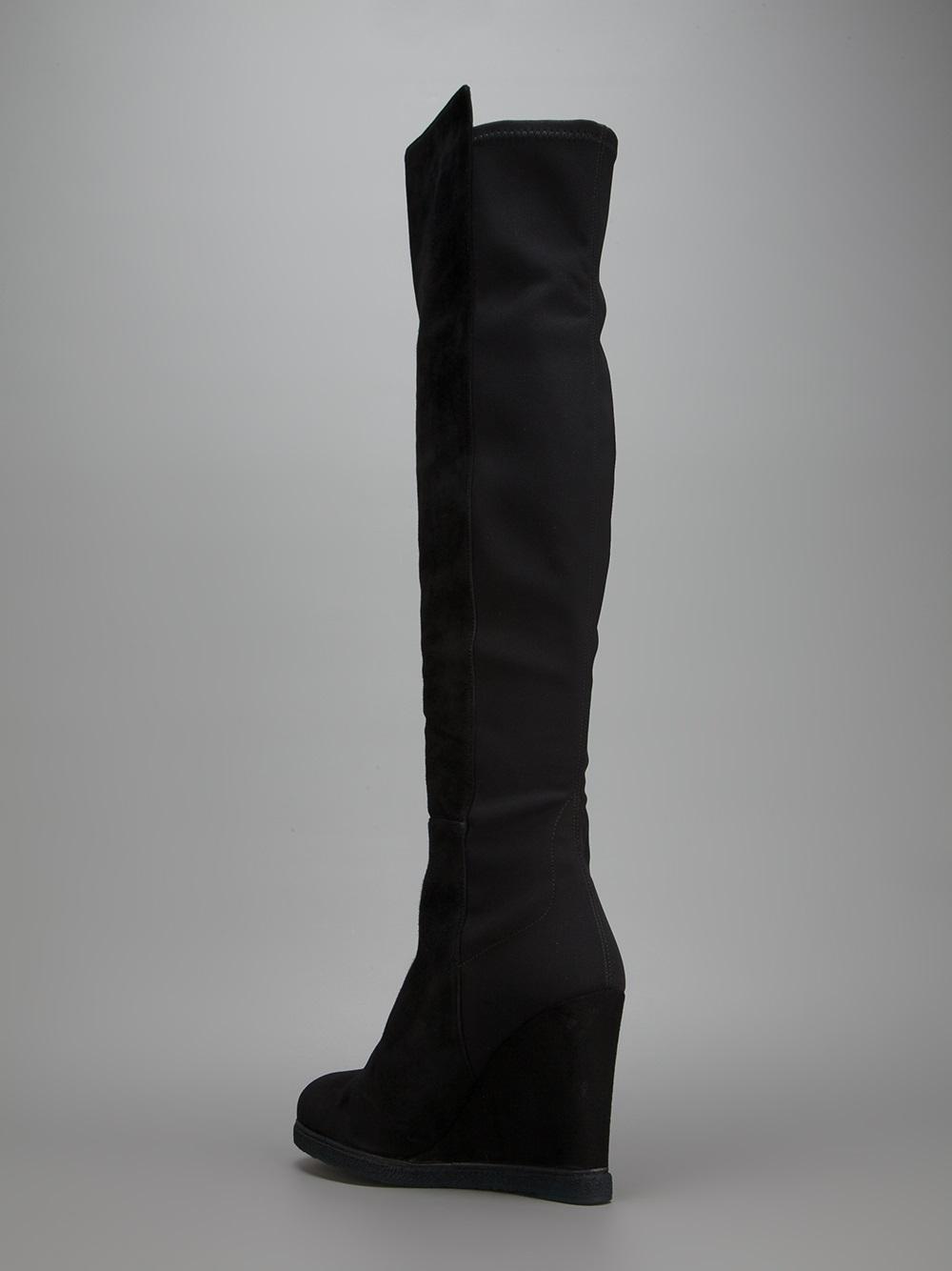 5ac8fc82fb1 Lyst - Stuart Weitzman Demiswoon Wedge Boot in Black