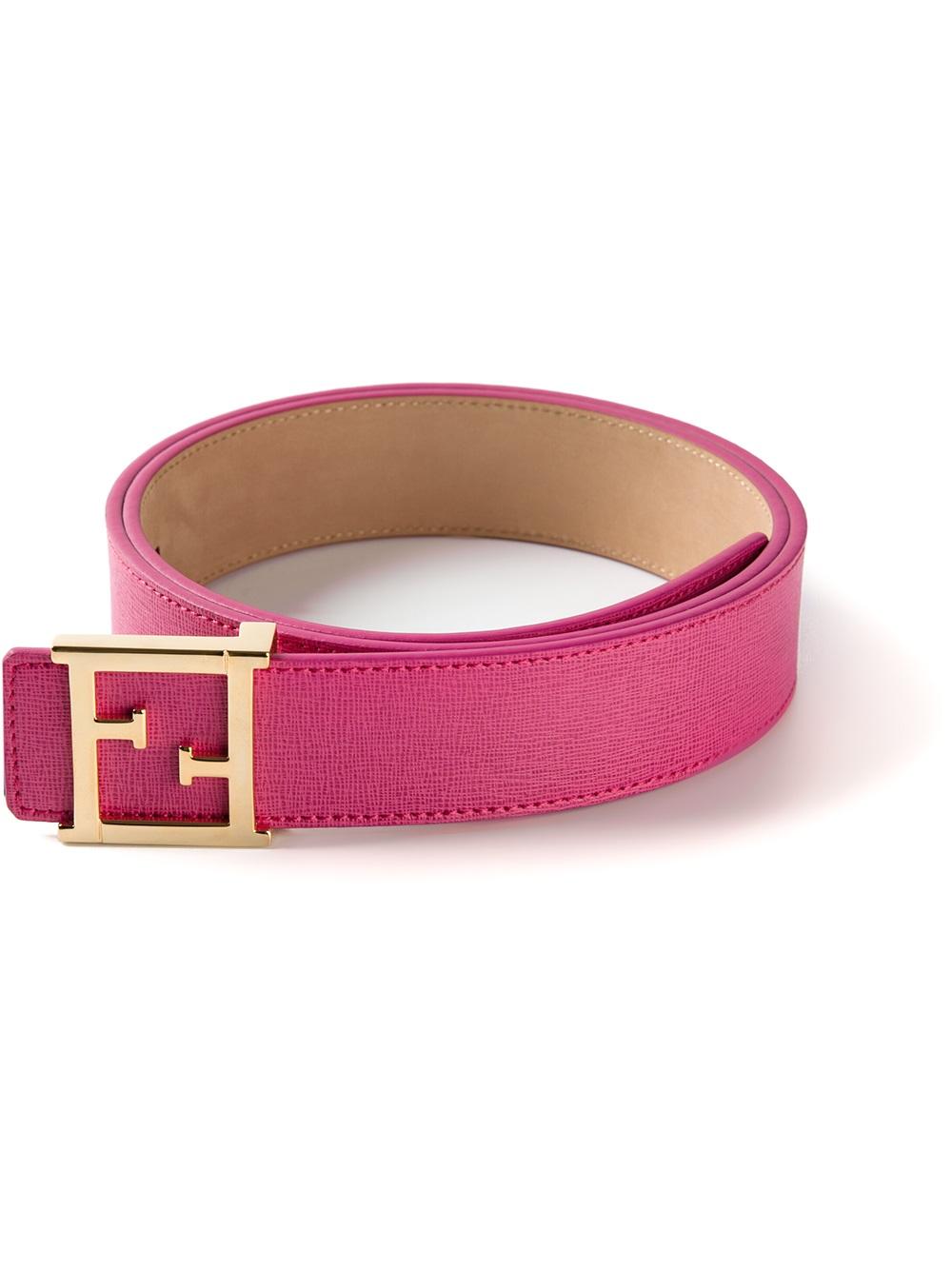 logo buckle belt - Pink & Purple Fendi y1Zh25mv