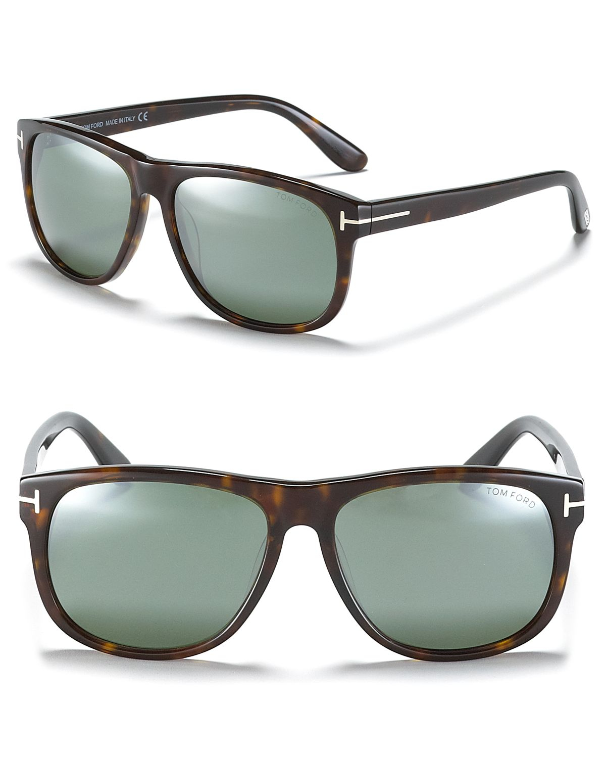Lyst tom ford olivier polarized mirror sunglasses in black for Mirror sunglasses