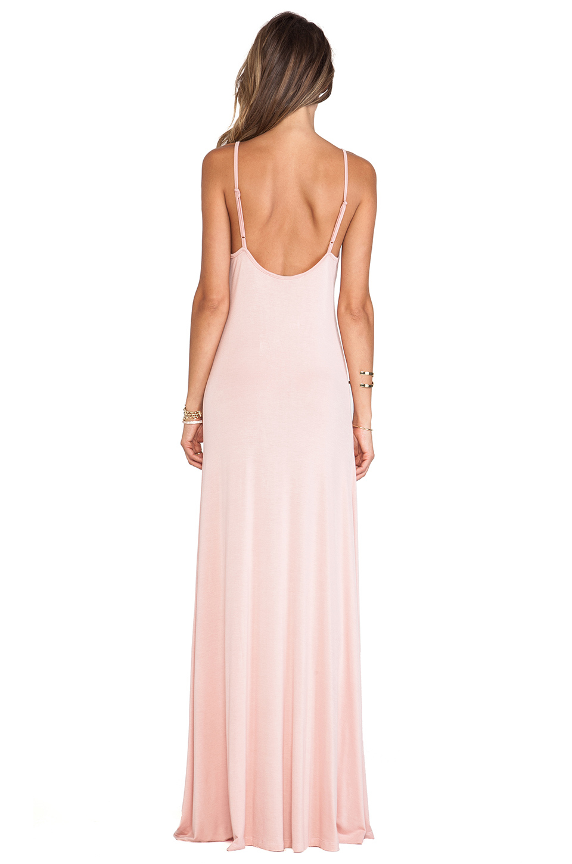 mauve pink maxi dress