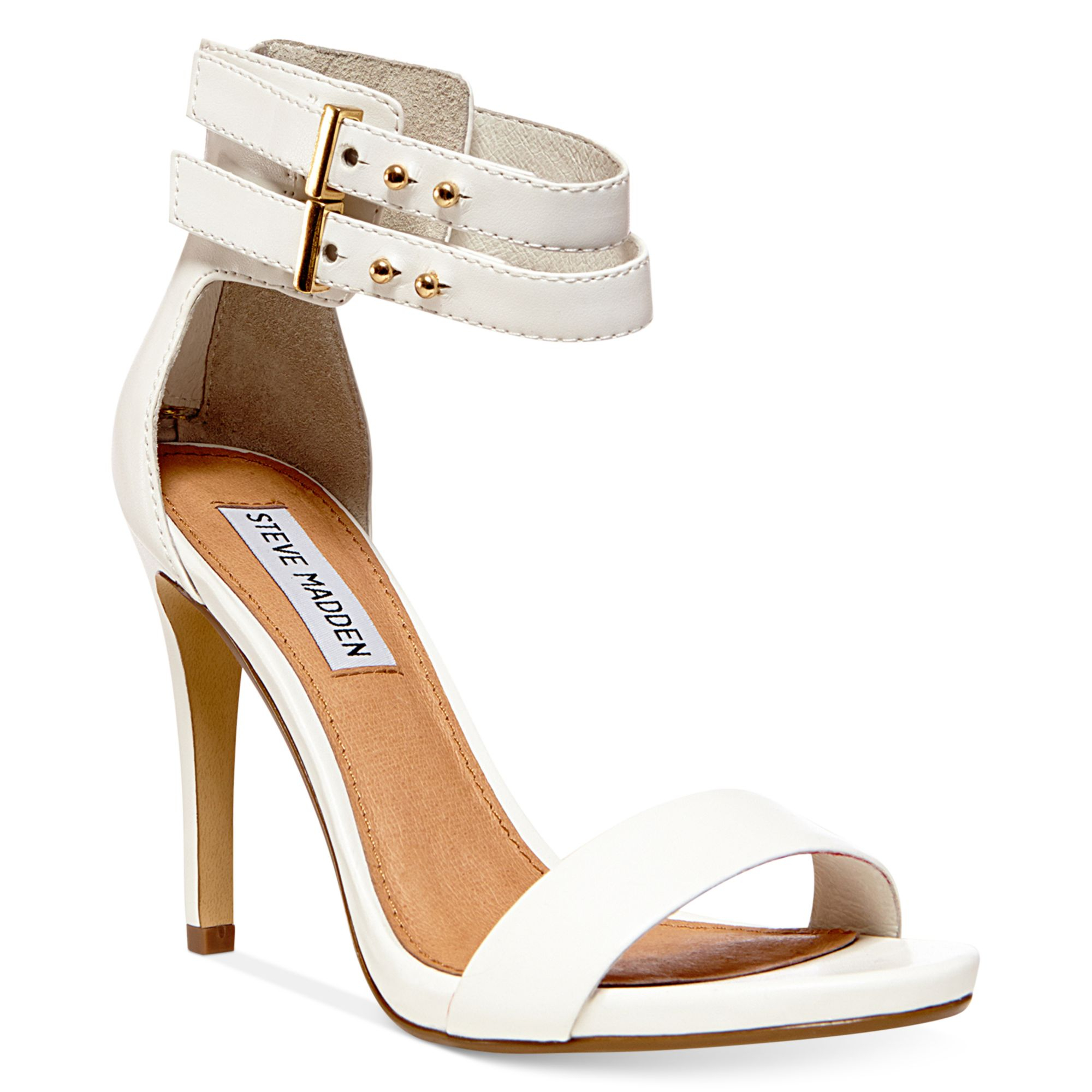 6c9bde42c56 Lyst - Steve Madden Kaylaa Two Piece Sandals in White