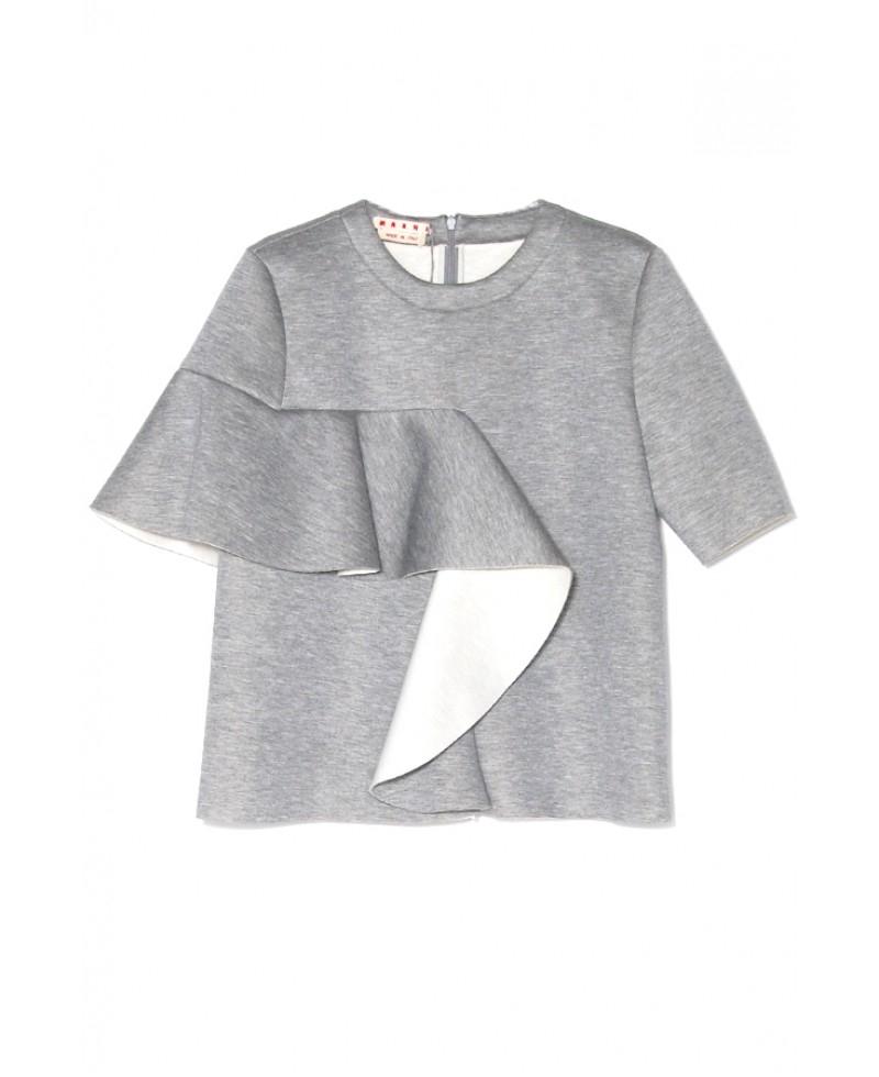 Marni Inox Short Sleeve Sweatshirt in Gray - Lyst 1242f8663