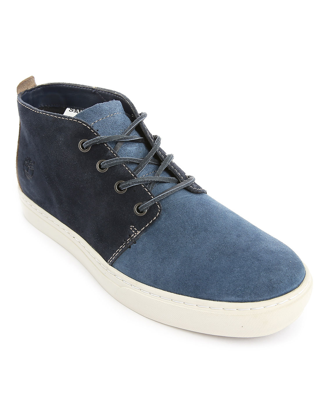 timberland two tone blue suede cupsole chukka in blue for