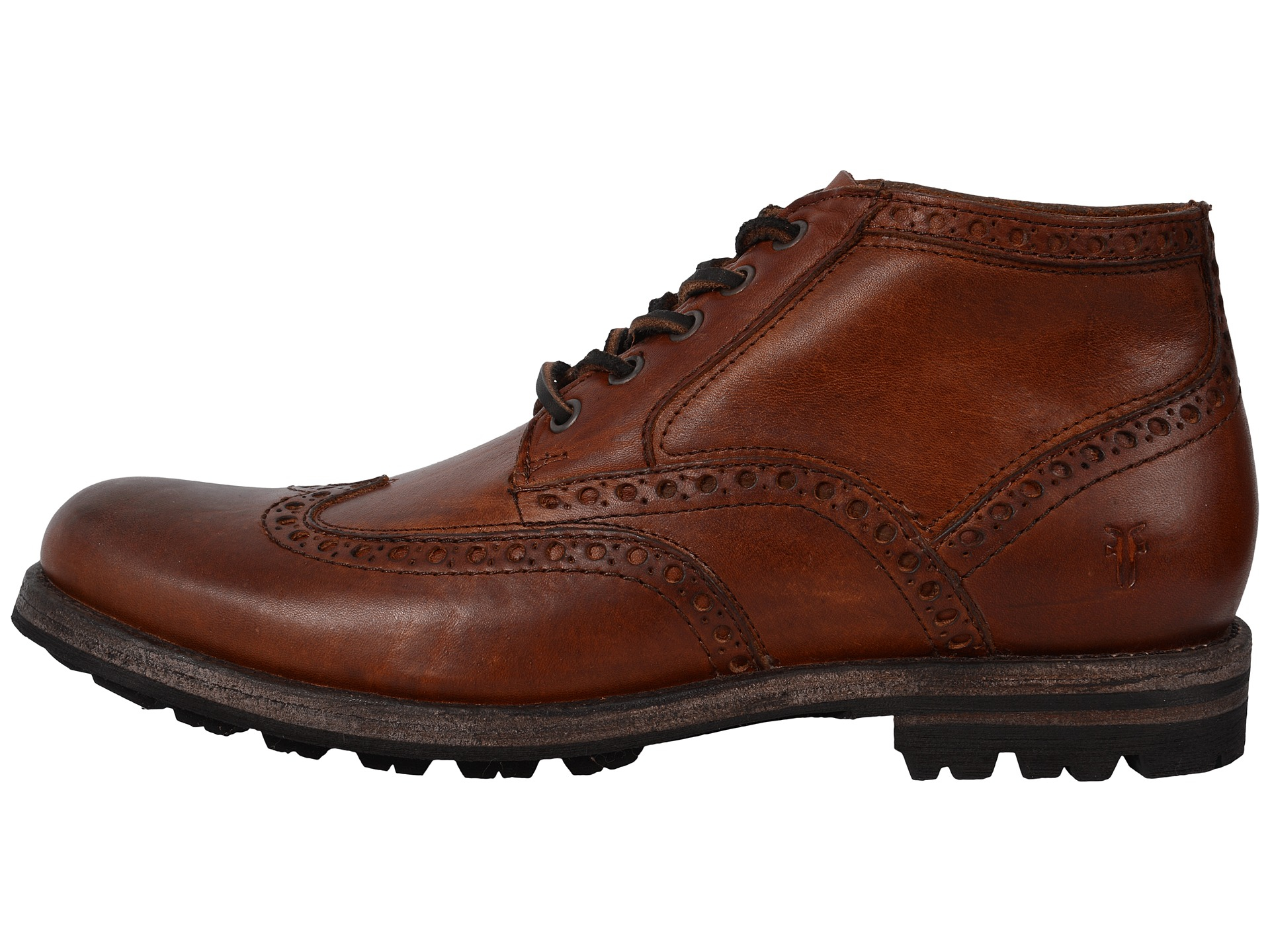 Frye Phillip Lug Wingtip Chukka In Brown For Men Lyst