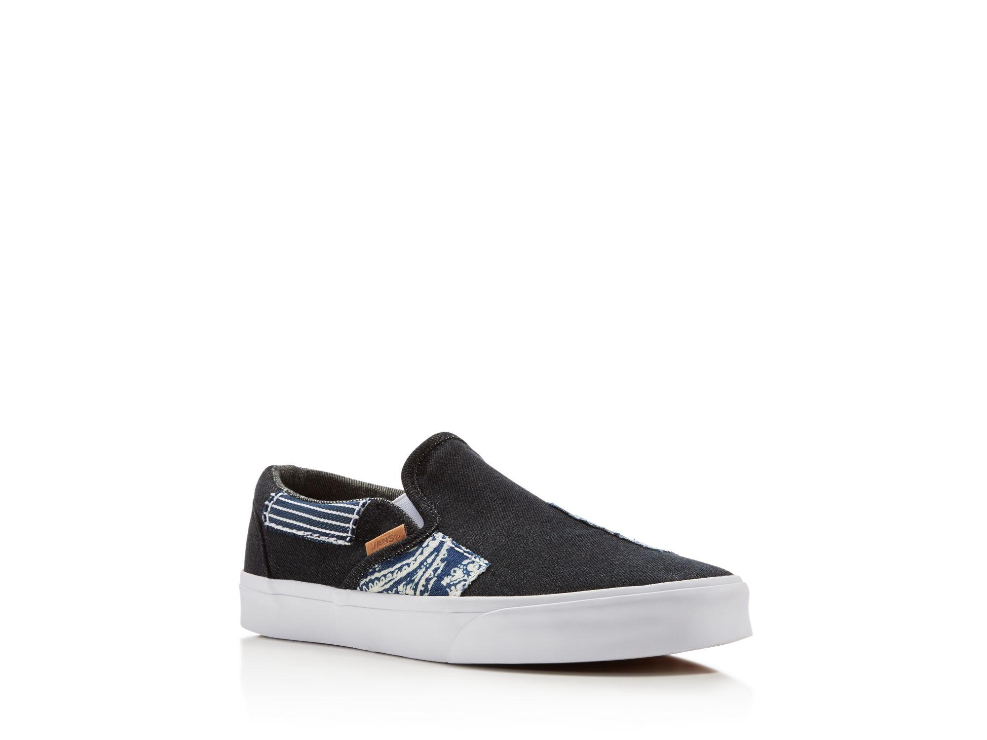 32482ed30c Lyst - Vans Classic Ca Denim Patchwork Slip On Sneakers in Blue for Men