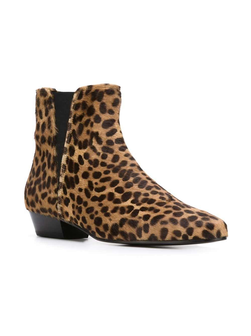 Isabel Marant Patsha Leopard-Print Calf-Leather Boots In -6882