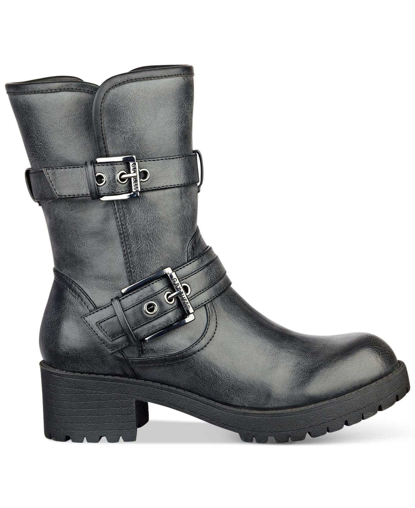 50d57247b G by Guess Minion Moto Booties in Black - Lyst