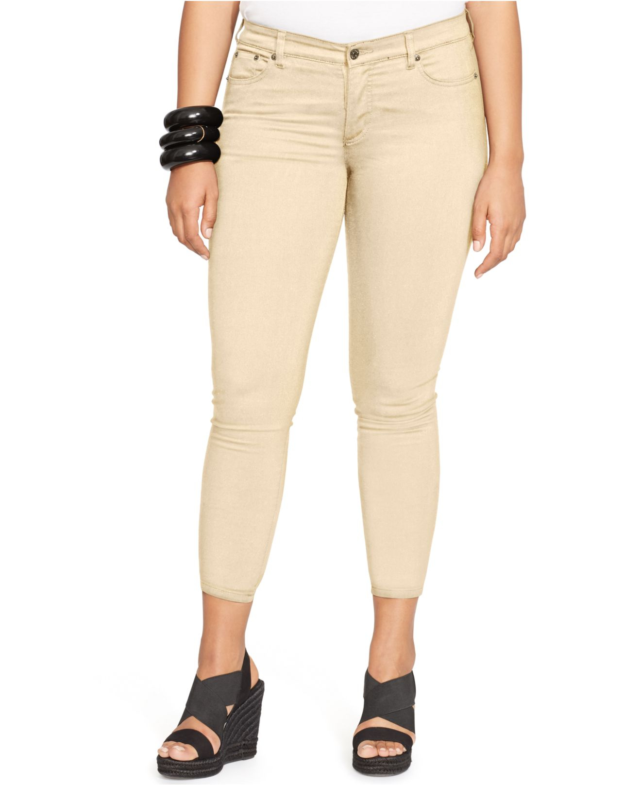 60c9921fa1a46 Lauren by Ralph Lauren - Natural Plus Size Cropped Straight-Leg Jeans - Lyst