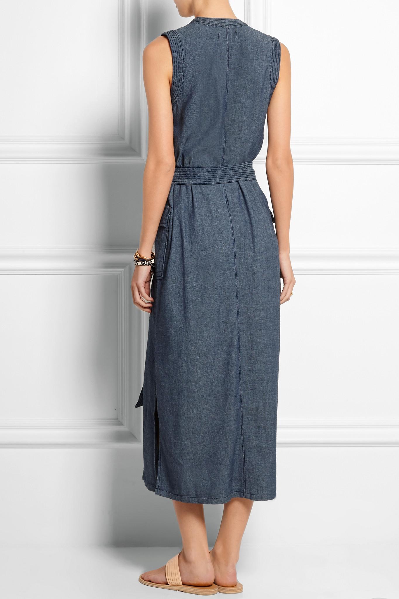 9e43362706 Madewell Denim Wrap Dress in Blue - Lyst