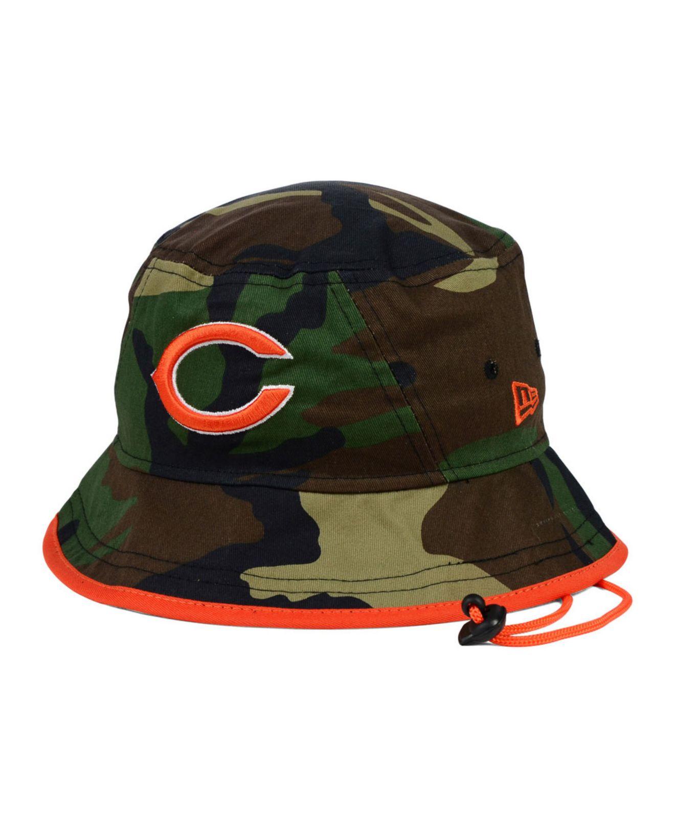 b2e88c8ff34 Lyst - KTZ Chicago Bears Camo Pop Bucket Hat in Green for Men