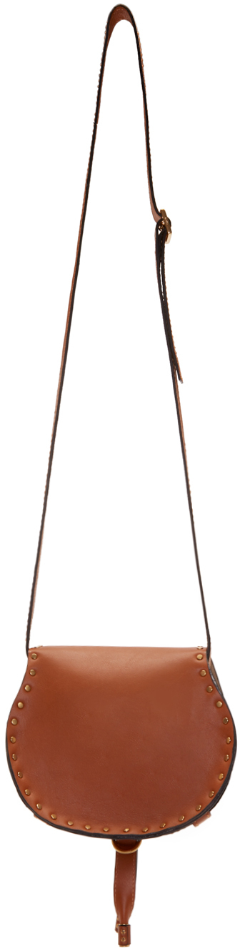 Chlo¨¦ Brown Leather Small Marcie Saddle Bag in Brown | Lyst
