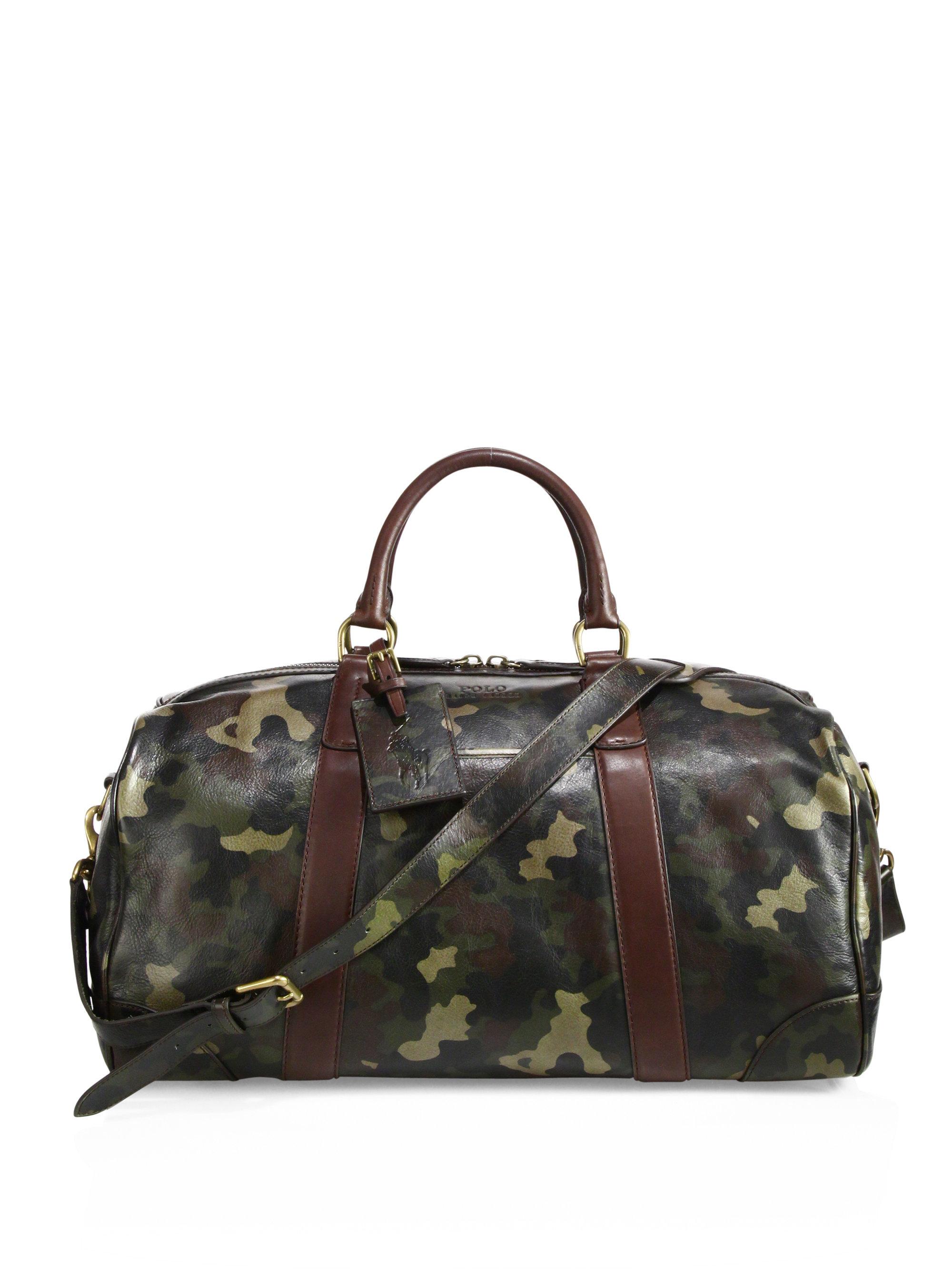 ... italy lyst polo ralph lauren camo leather duffel bag for men c26cf  4d863 ... 7e549ac626