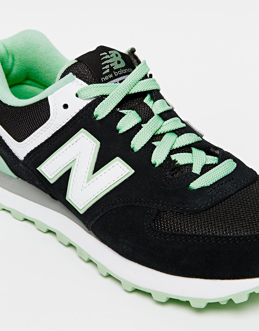 new balance 574 green black