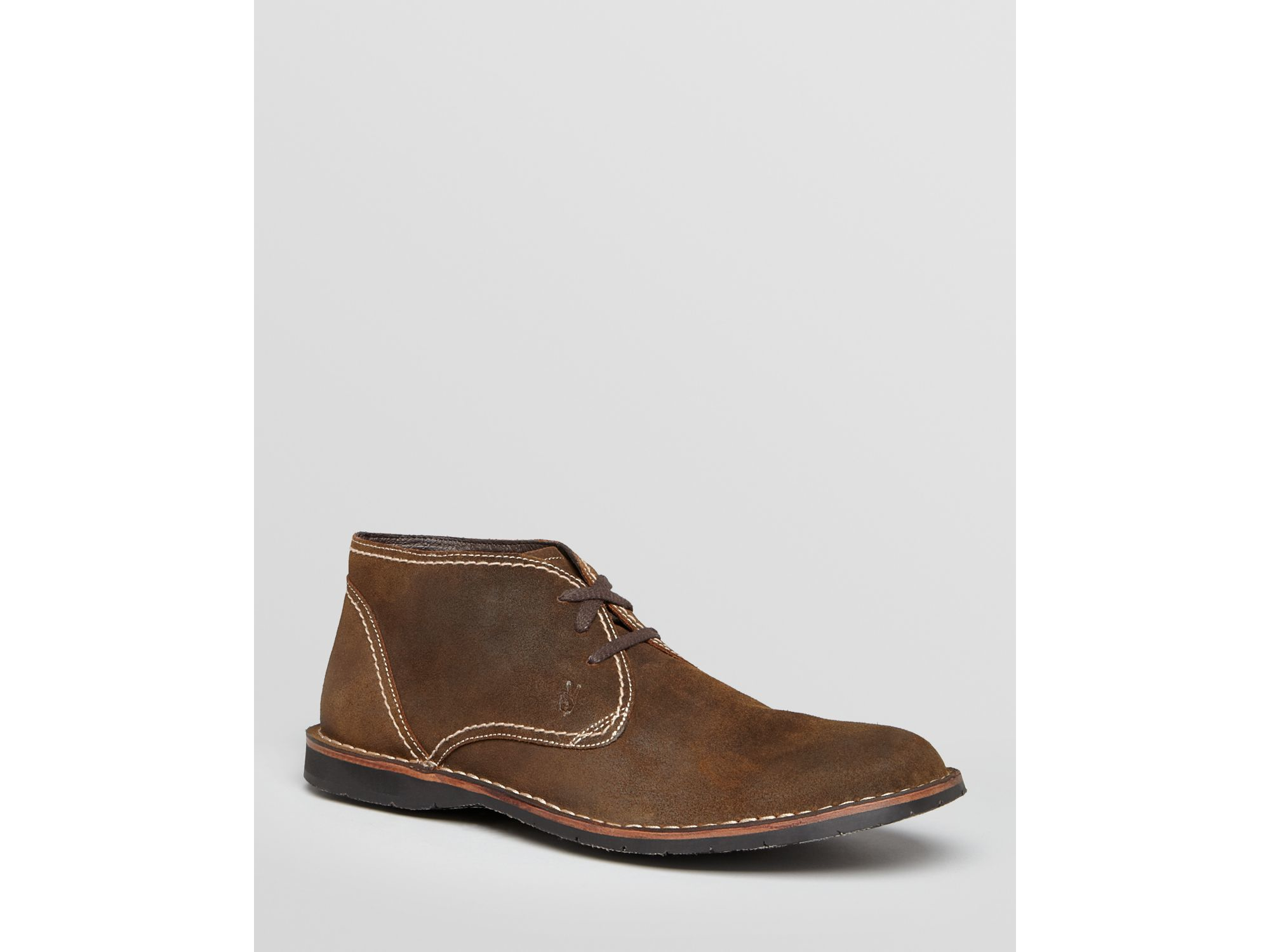 john varvatos hipster suede chukka boots in brown for men