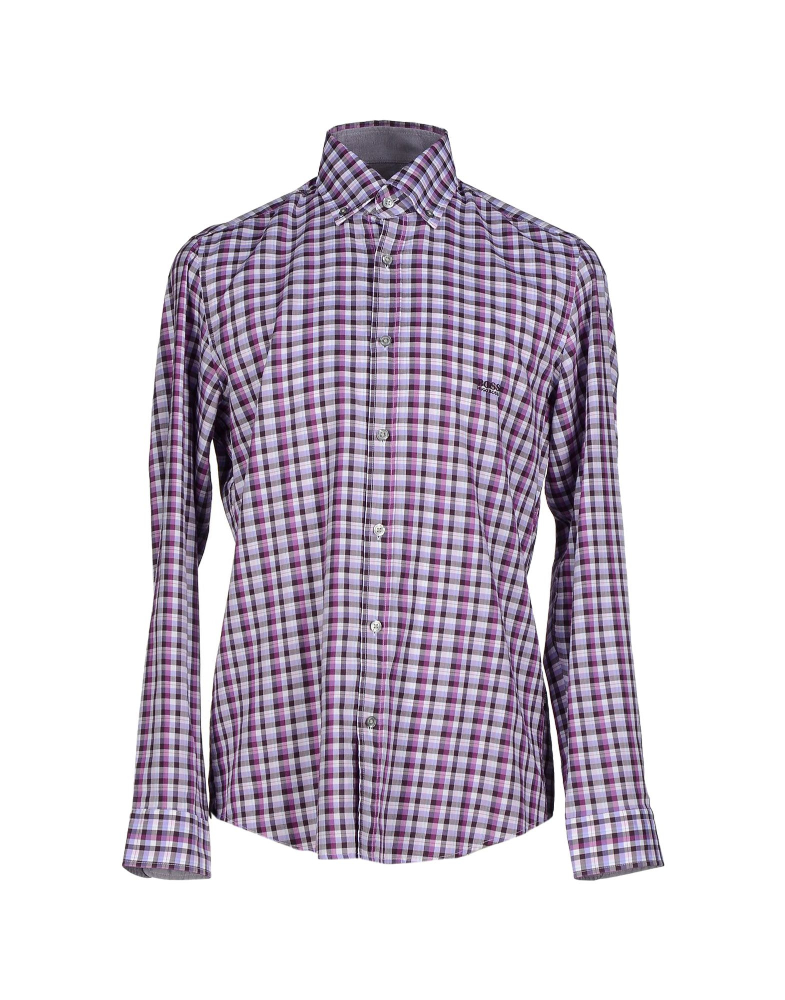 Lyst boss black shirt in purple for men Light purple dress shirt men
