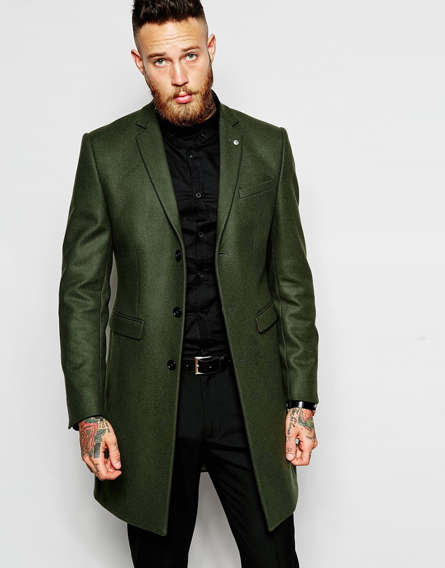 Lyst Noose And Monkey Wool Overcoat In Green For Men