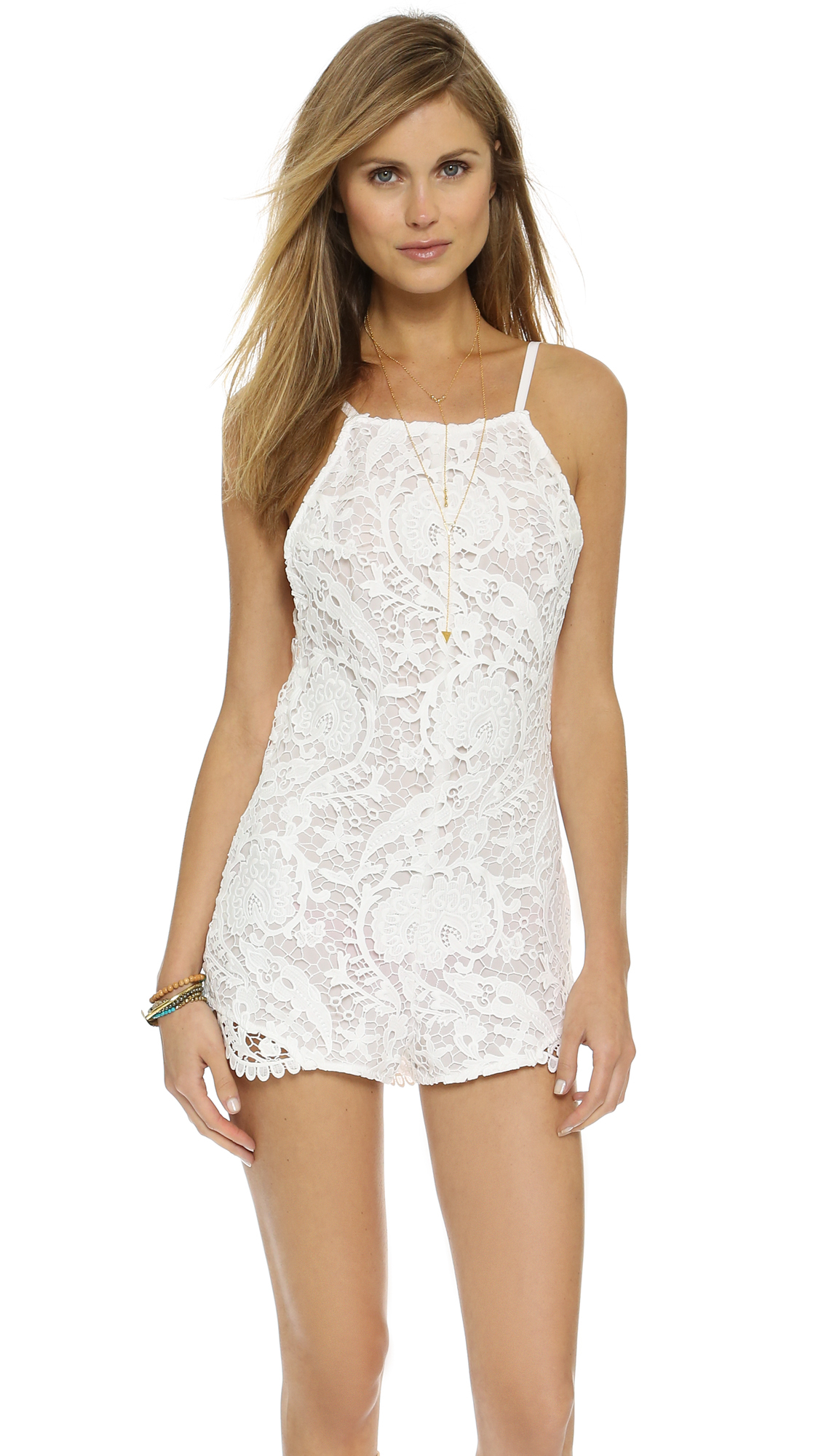 6dca9df40a2 Lyst - Stone Cold Fox Ryder Romper - White in White