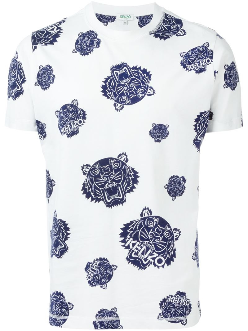 12e17748d027 KENZO 'tiger' T-shirt in Blue for Men - Lyst