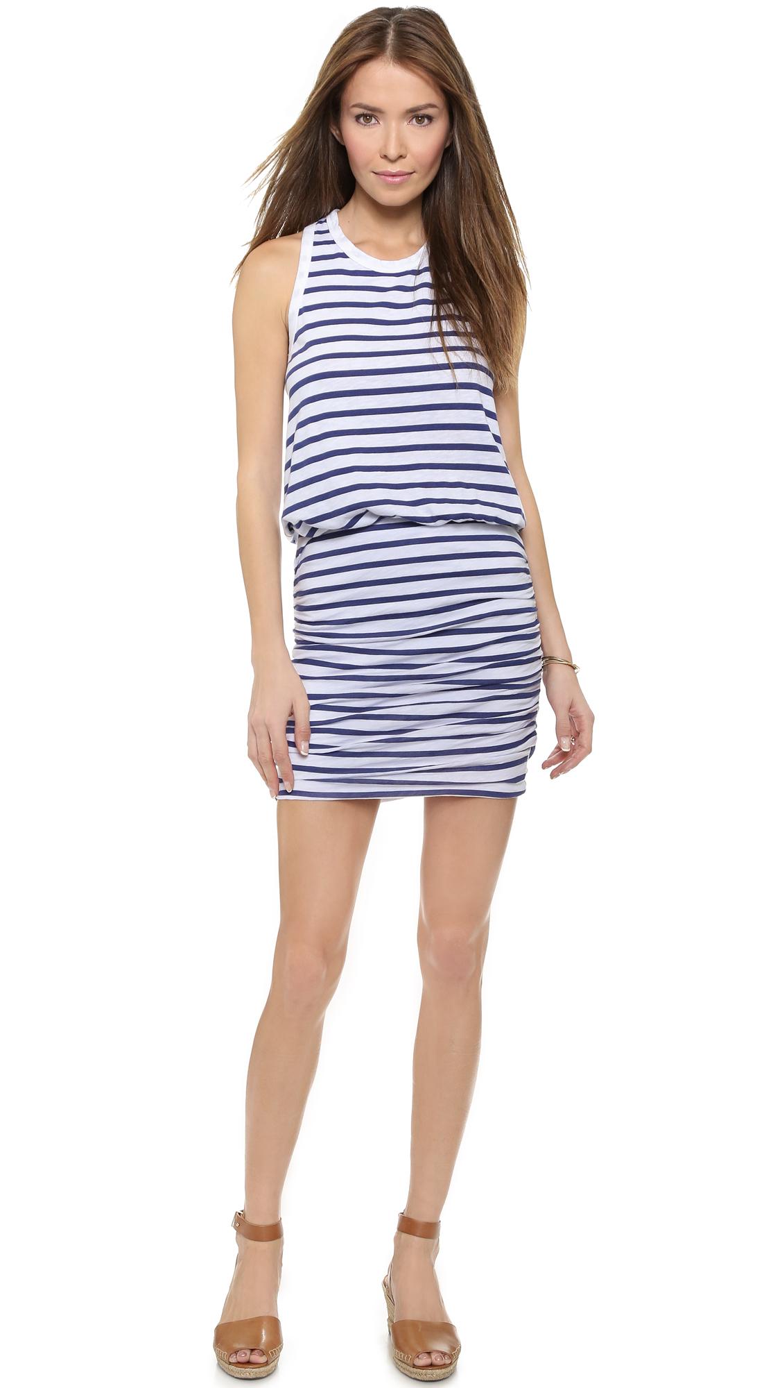 dff5e42ac689f Lyst - Sundry Striped Sleeveless Dress - White in White