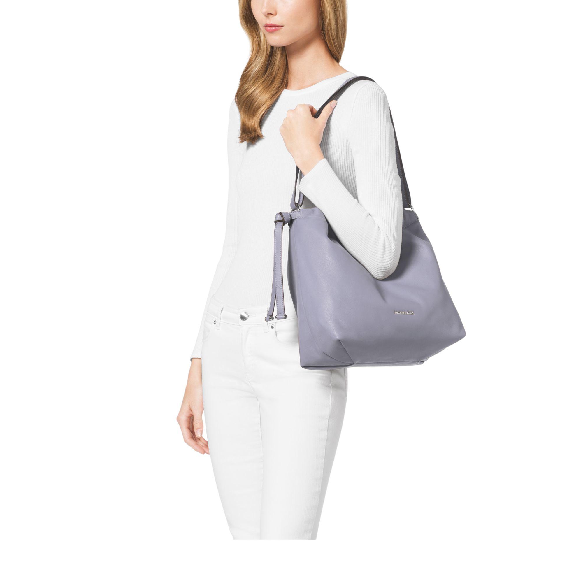 061668b71fc0 Michael Kors Michael Kors Sloan Large Quilted-Denim Shoulder Bag