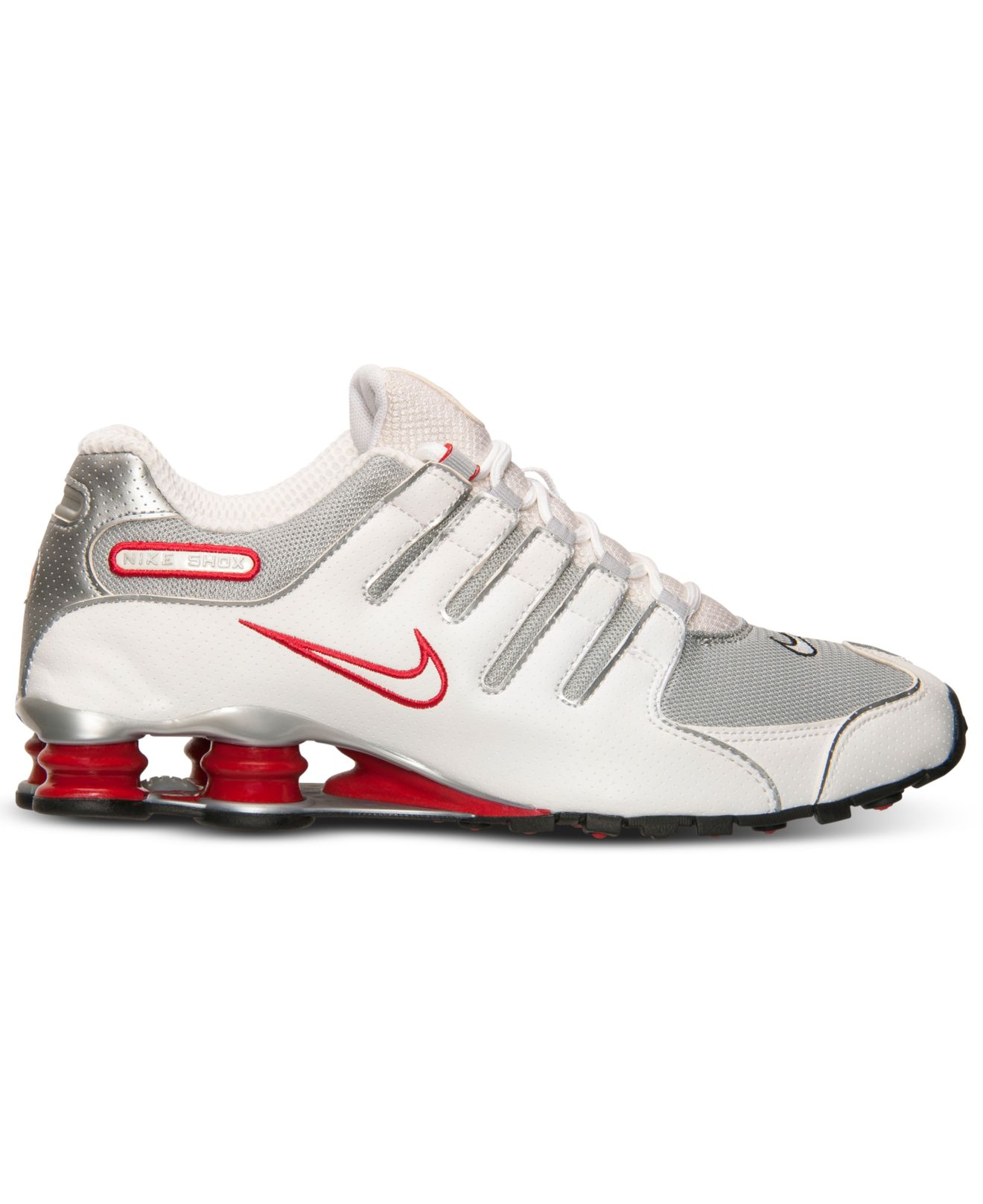 best sneakers 3d117 50a1b Lyst - Nike Men s Shox Nz Running Sneakers From Finish Line in White ...