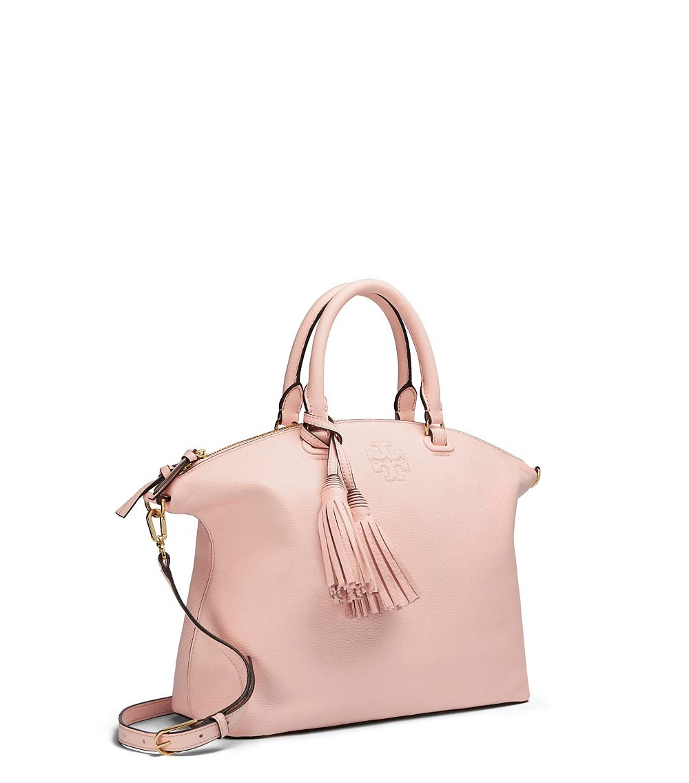 f6fbe4126d1c Lyst - Tory Burch Thea Medium Slouchy Satchel in Pink