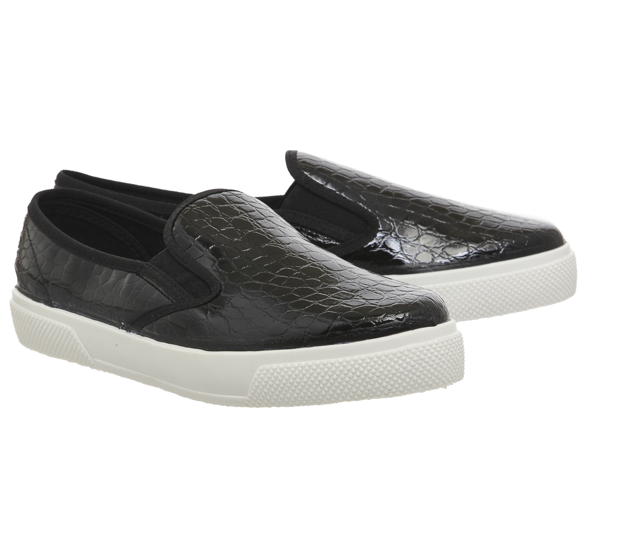 Office Kicker Slip On Trainers In Black | Lyst