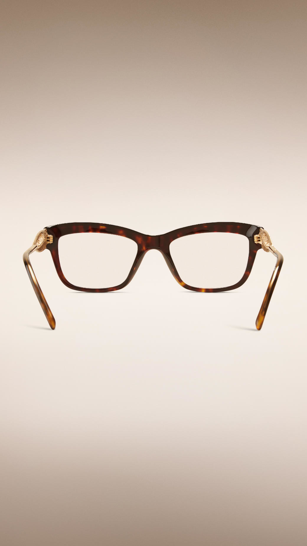 3c046bf284 Lyst - Burberry Gabardine Lace Collection Cat-eye Optical Frames