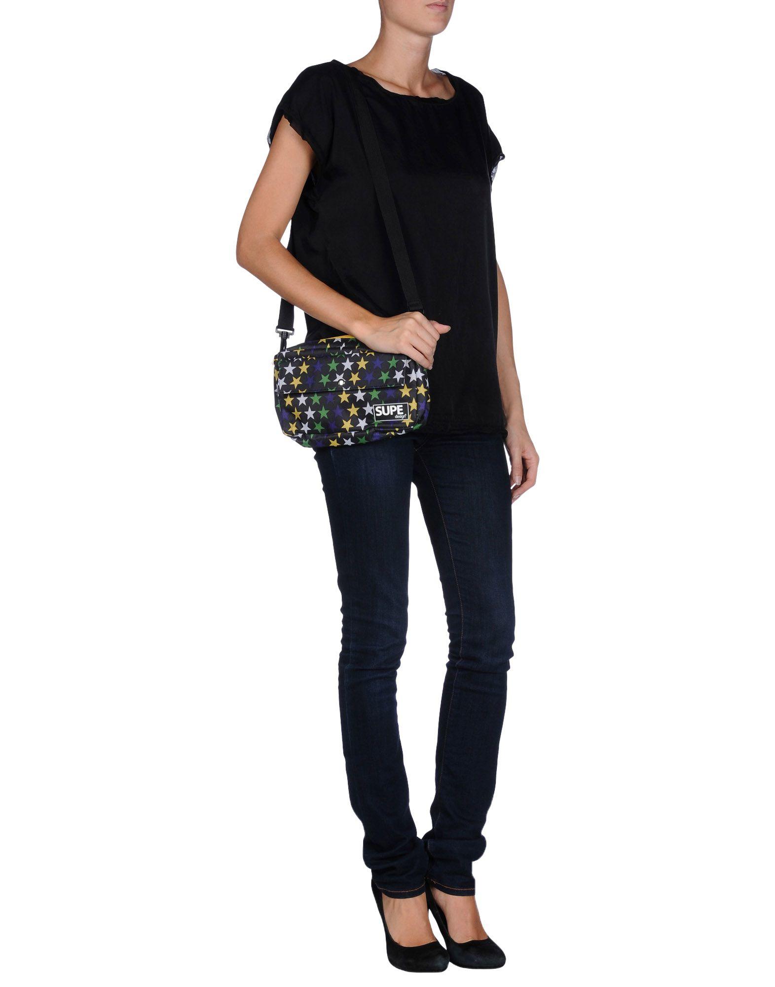 Lyst Supe Design Cross Body Bag In Black