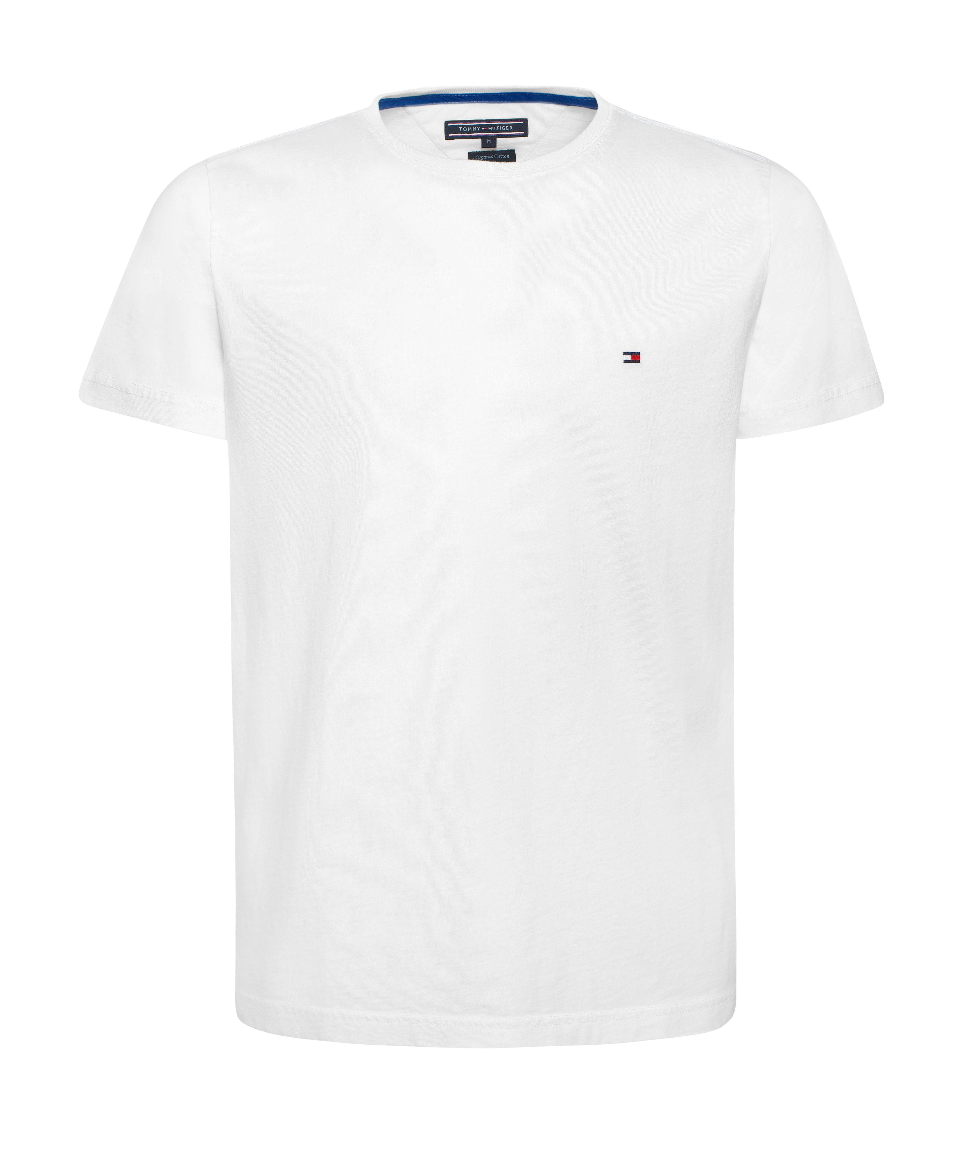 lyst tommy hilfiger flag logo plain cotton t shirt in white for men. Black Bedroom Furniture Sets. Home Design Ideas