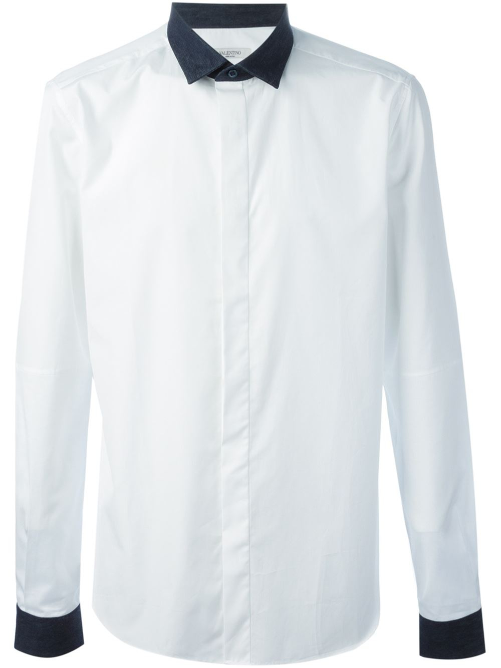 Lyst valentino contrasting collar and cuff shirt in for Mens dress shirts with contrasting collars and cuffs
