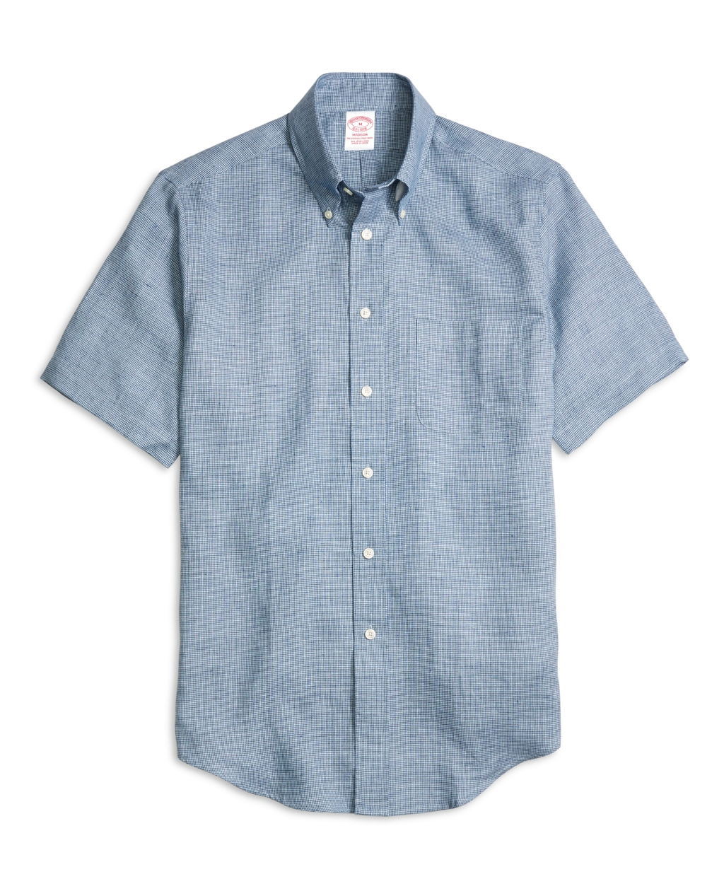 Brooks brothers madison fit check linen short sleeve sport for Brooks brothers sports shirts