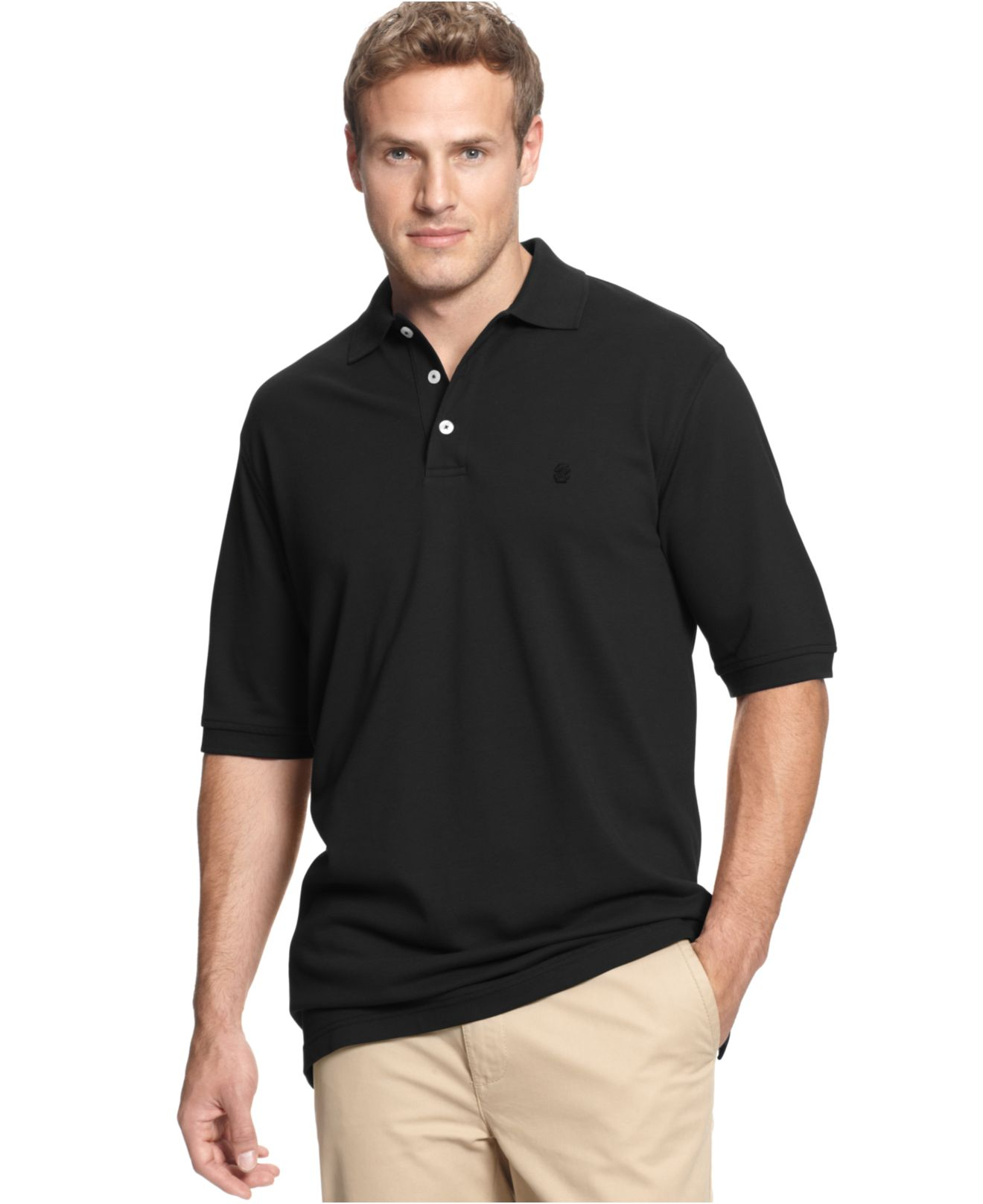Izod big and tall heritage classic premium pique polo in for Izod big and tall shirts