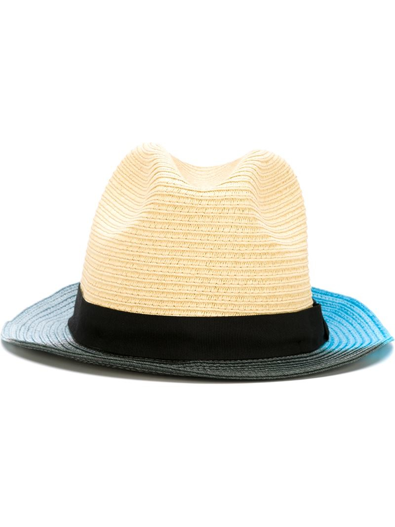 962aae763e4 Lyst - Paul Smith - Contrast Trim Woven Hat - Men - Paper polyester ...