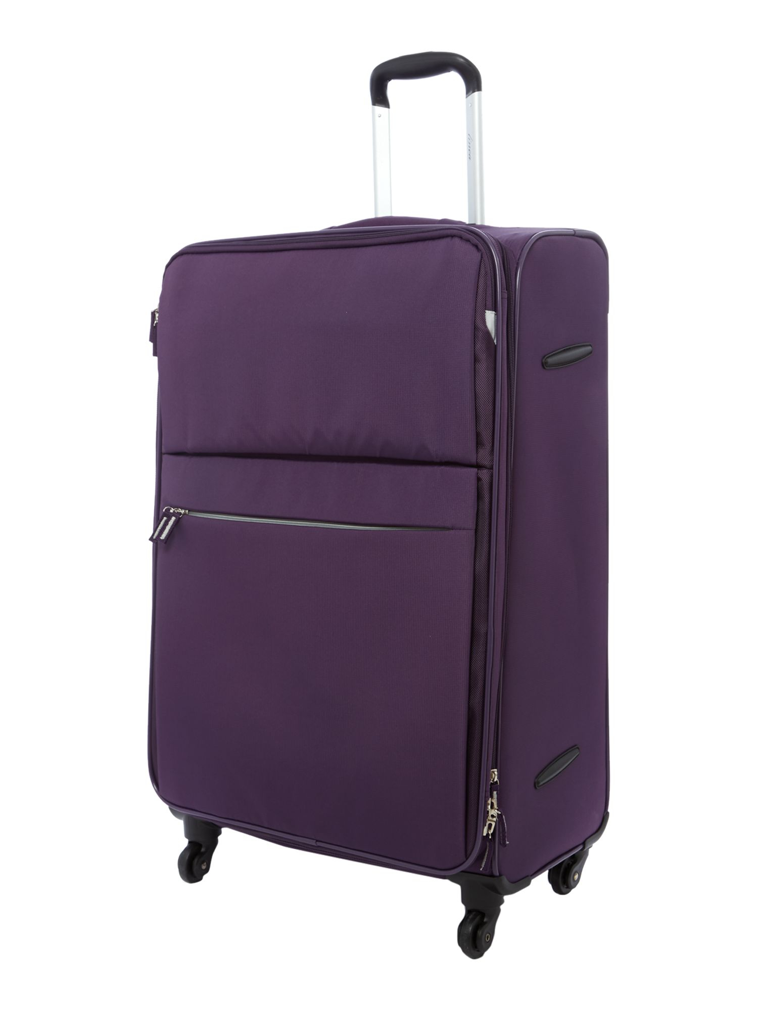 linea hyperlite purple 4 wheel soft large suitcase in. Black Bedroom Furniture Sets. Home Design Ideas