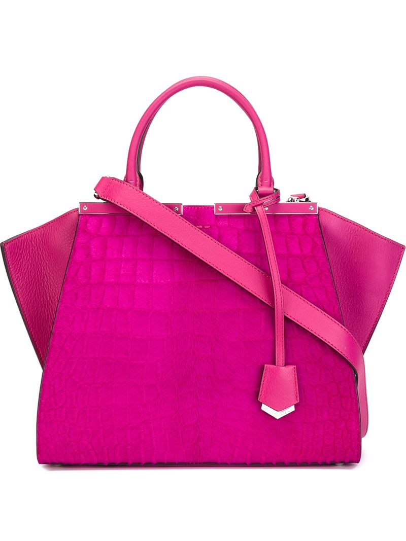 Fendi  3jours  Tote in Pink - Lyst f8ad18fae6c3c