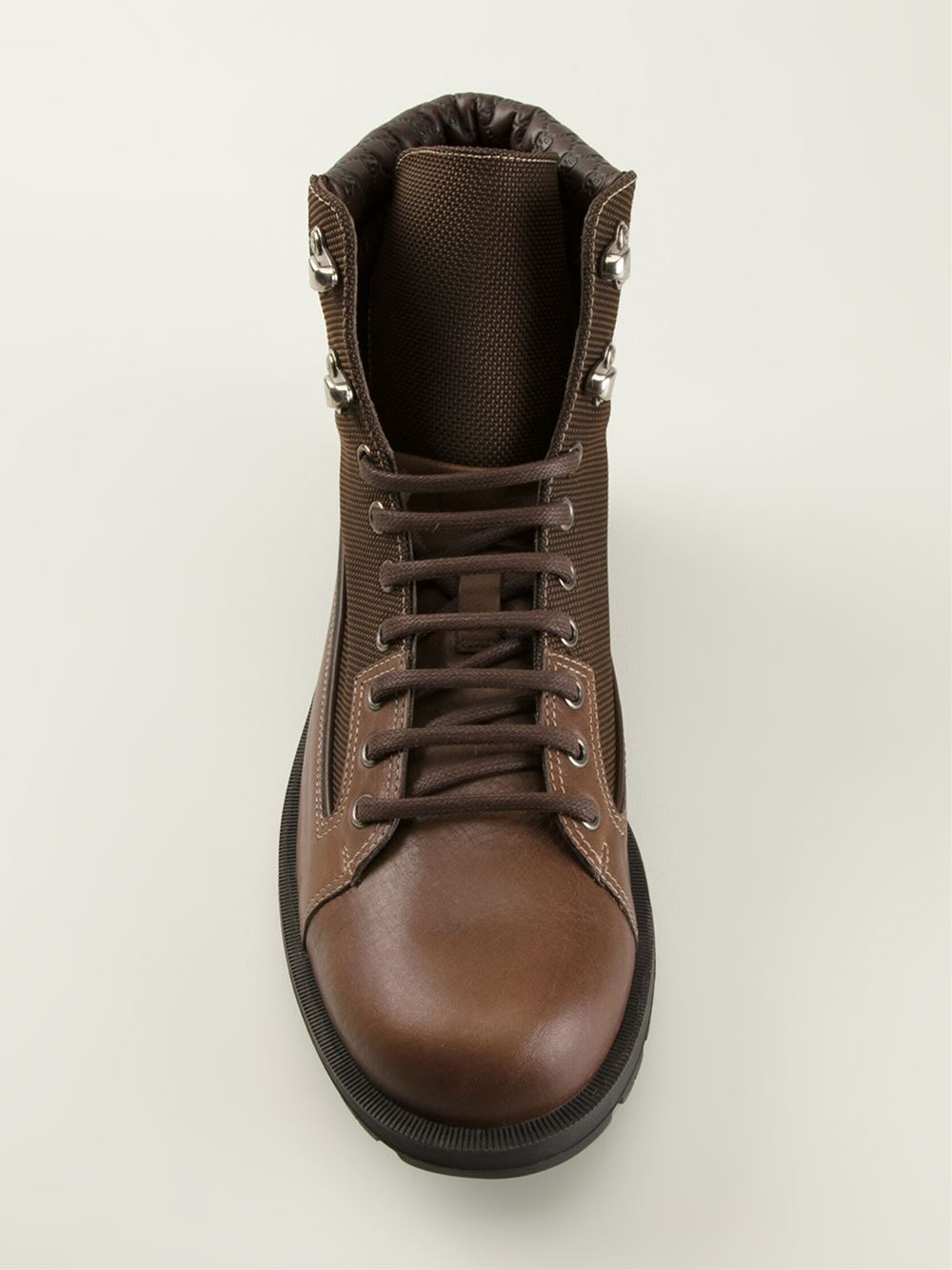 Gucci Brown Military Style Boots for men