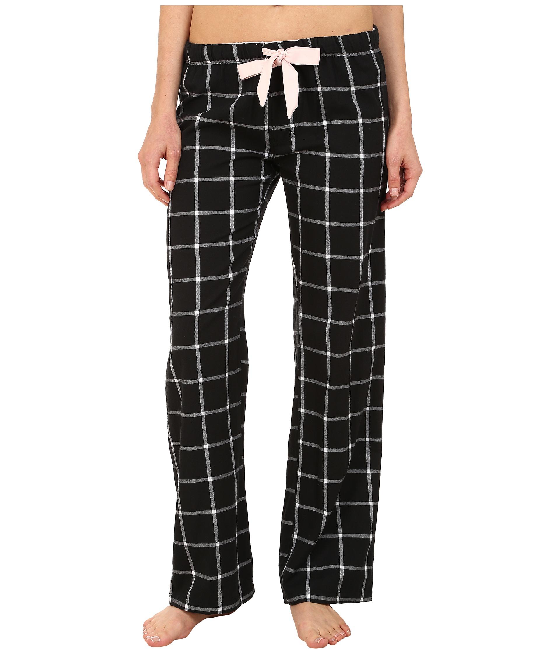 Pj salvage Black N Blush Plaid Pajama Pants in Black | Lyst