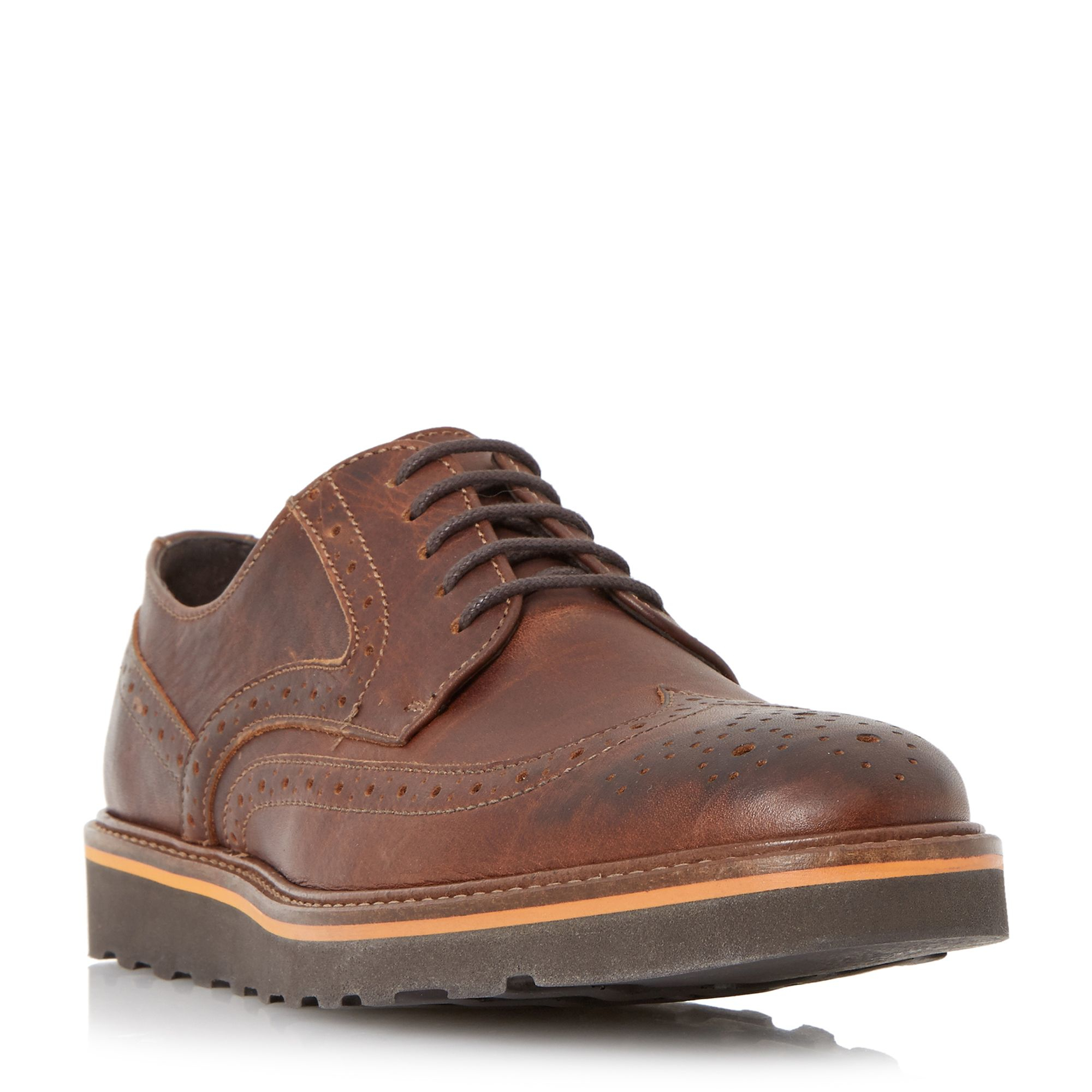 bertie barkly wedge sole brogues in brown for lyst