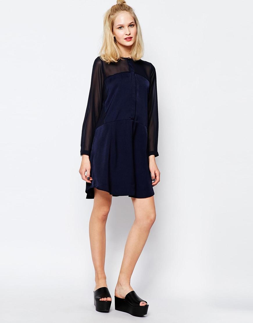 Samsøe & samsøe Samsoe & Samsoe Hylte Shirt Dress With Sheer ...