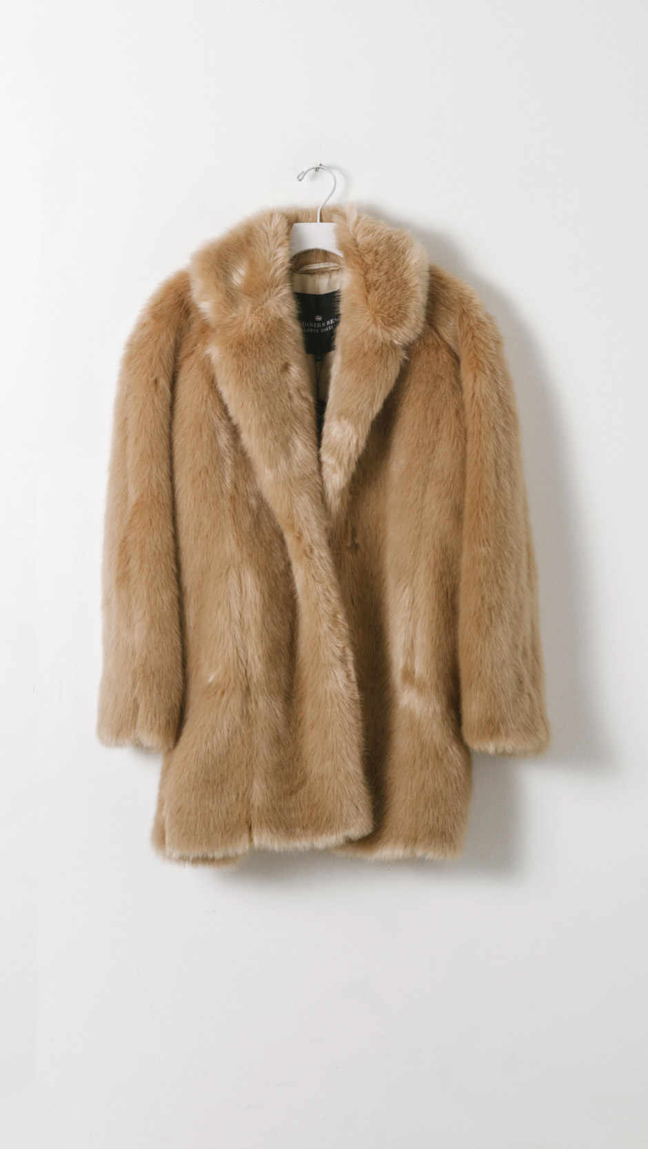 Designers remix Faux Fur Coat in Natural | Lyst
