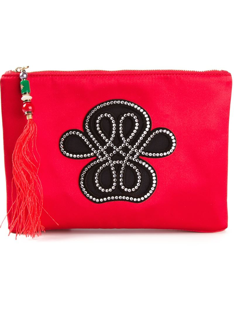 Charlotte Olympia Chinatown Zipped Pouch In Red Lyst