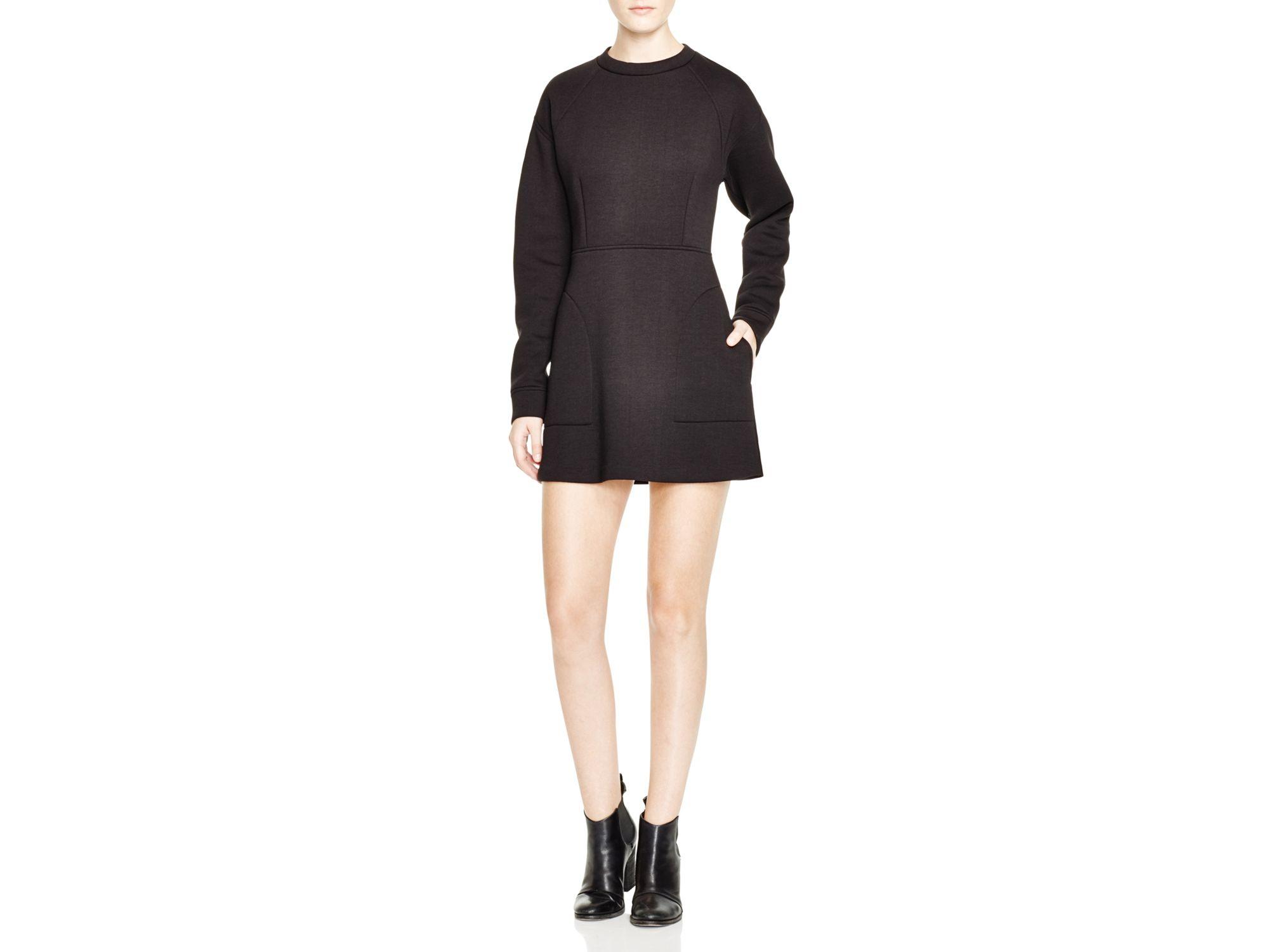 Lyst Dkny Long Sleeve Scuba Dress In Black