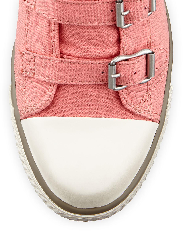 97ba39d4a828 Lyst - Ash Genialbis Buckled Wedge Sneaker in Gray