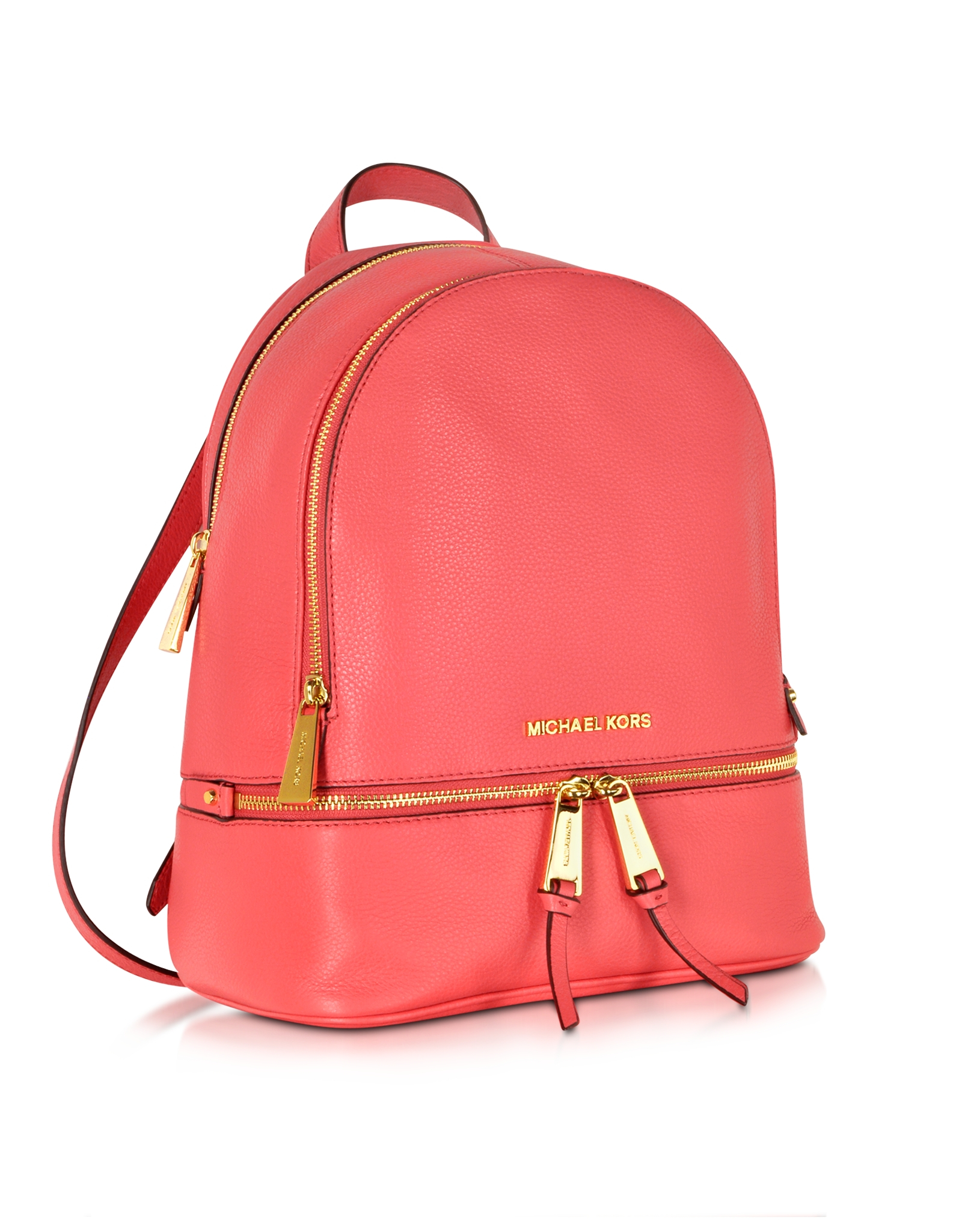 d9269d3c27 Michael Kors Rhea Zip Small Watermelon Leather Backpack in Red - Lyst
