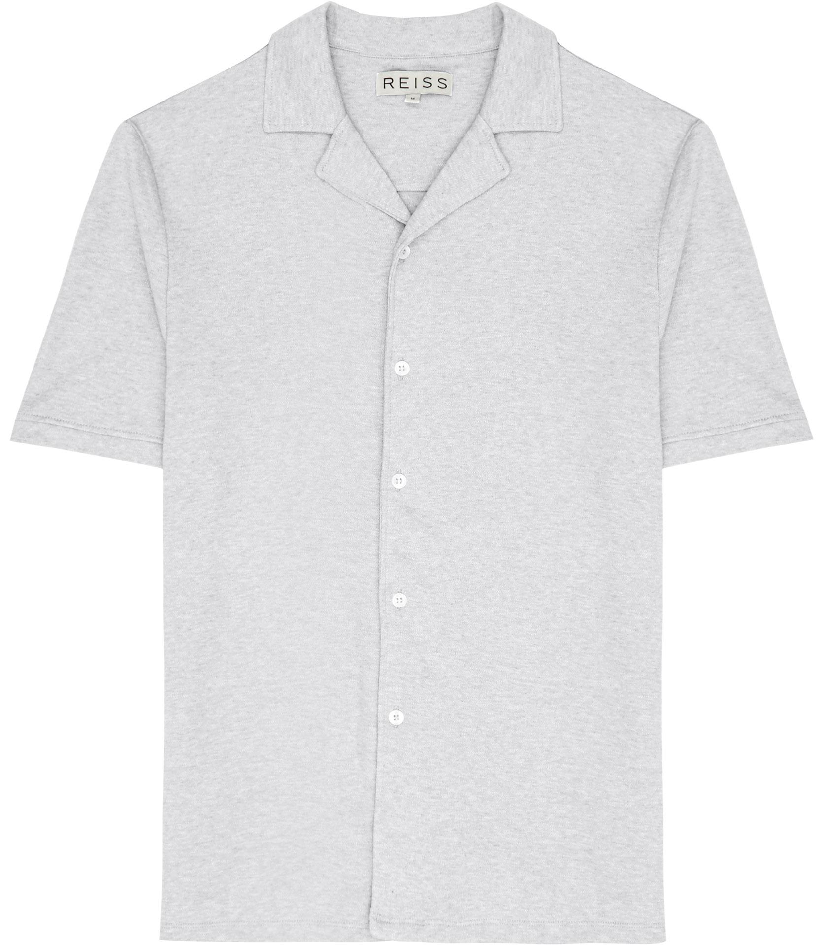 Reiss Antonio Cuban Collar Shirt In White For Men Lyst