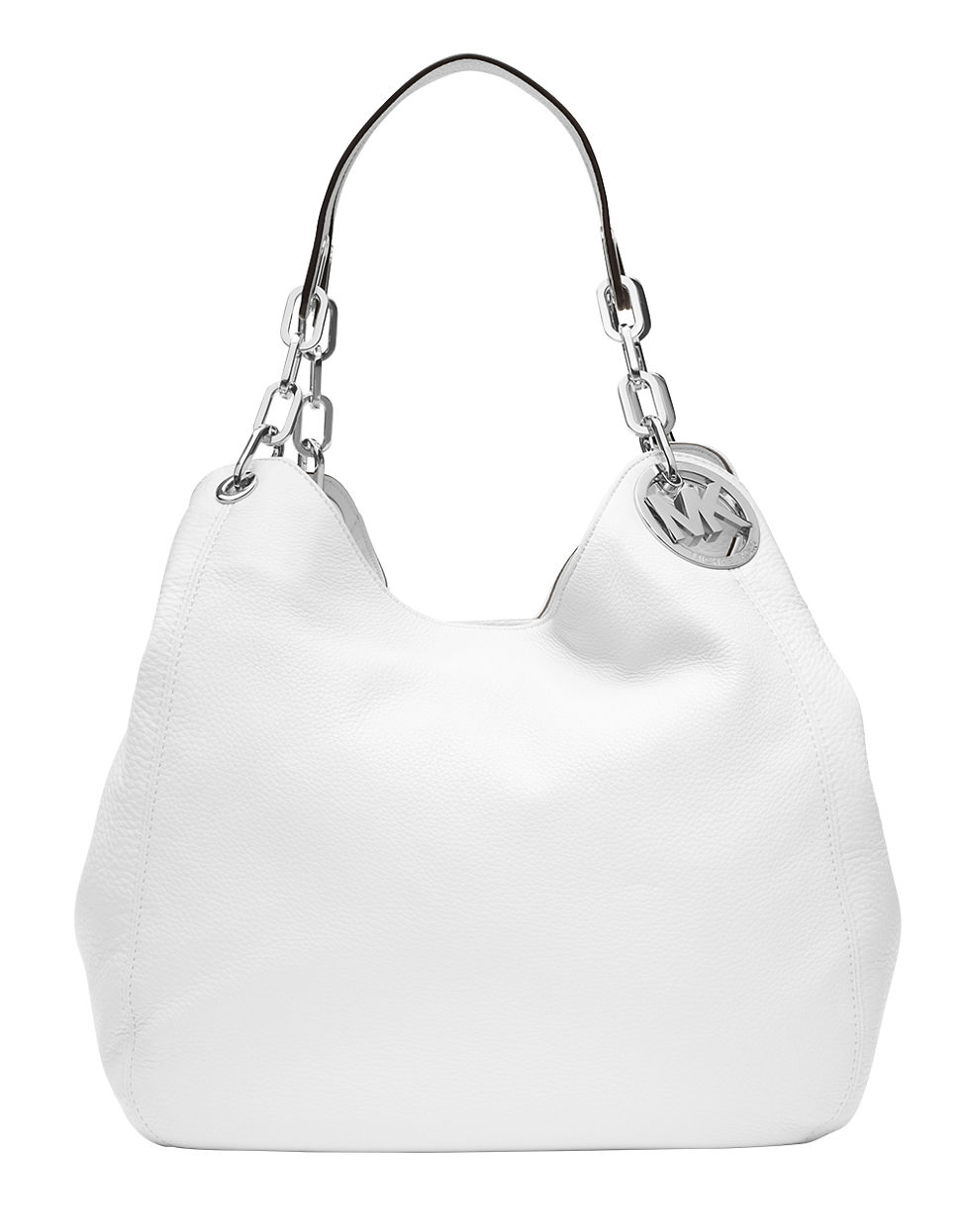 abb64ba197 ... discount code for lyst michael michael kors fulton leather large tote  bag in white 4b203 2f0df