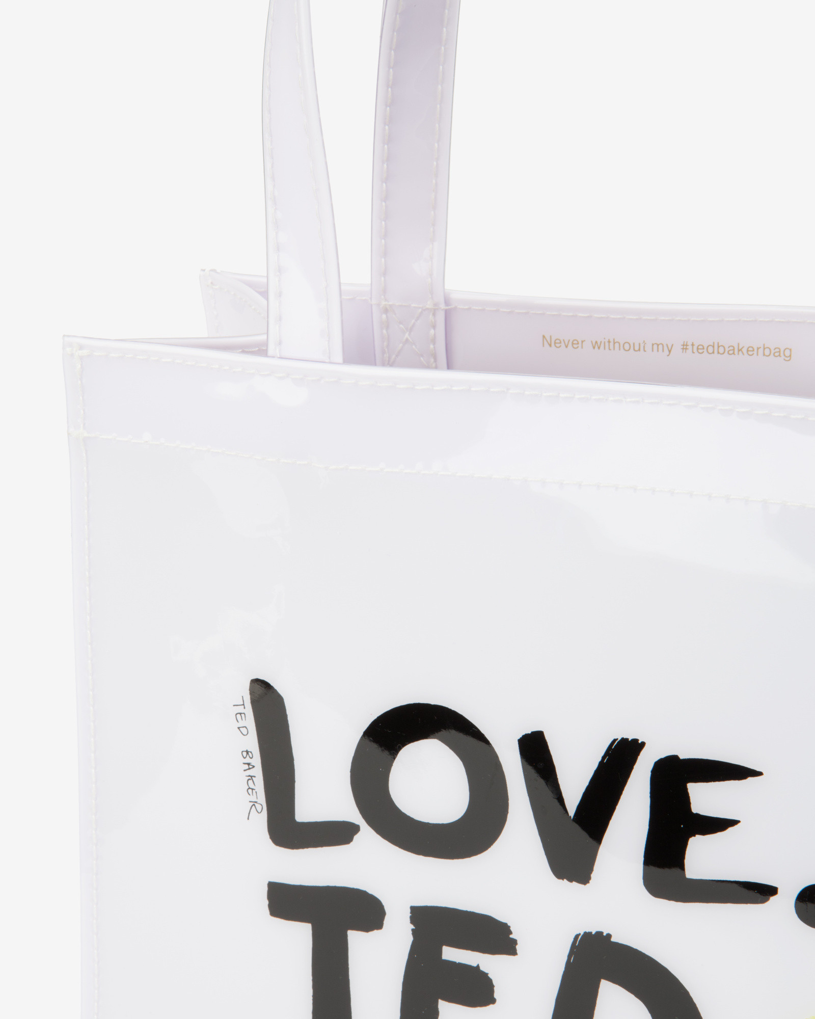 bf64842c900d67 Ted Baker Small Love Ted Shopper Bag in White - Lyst