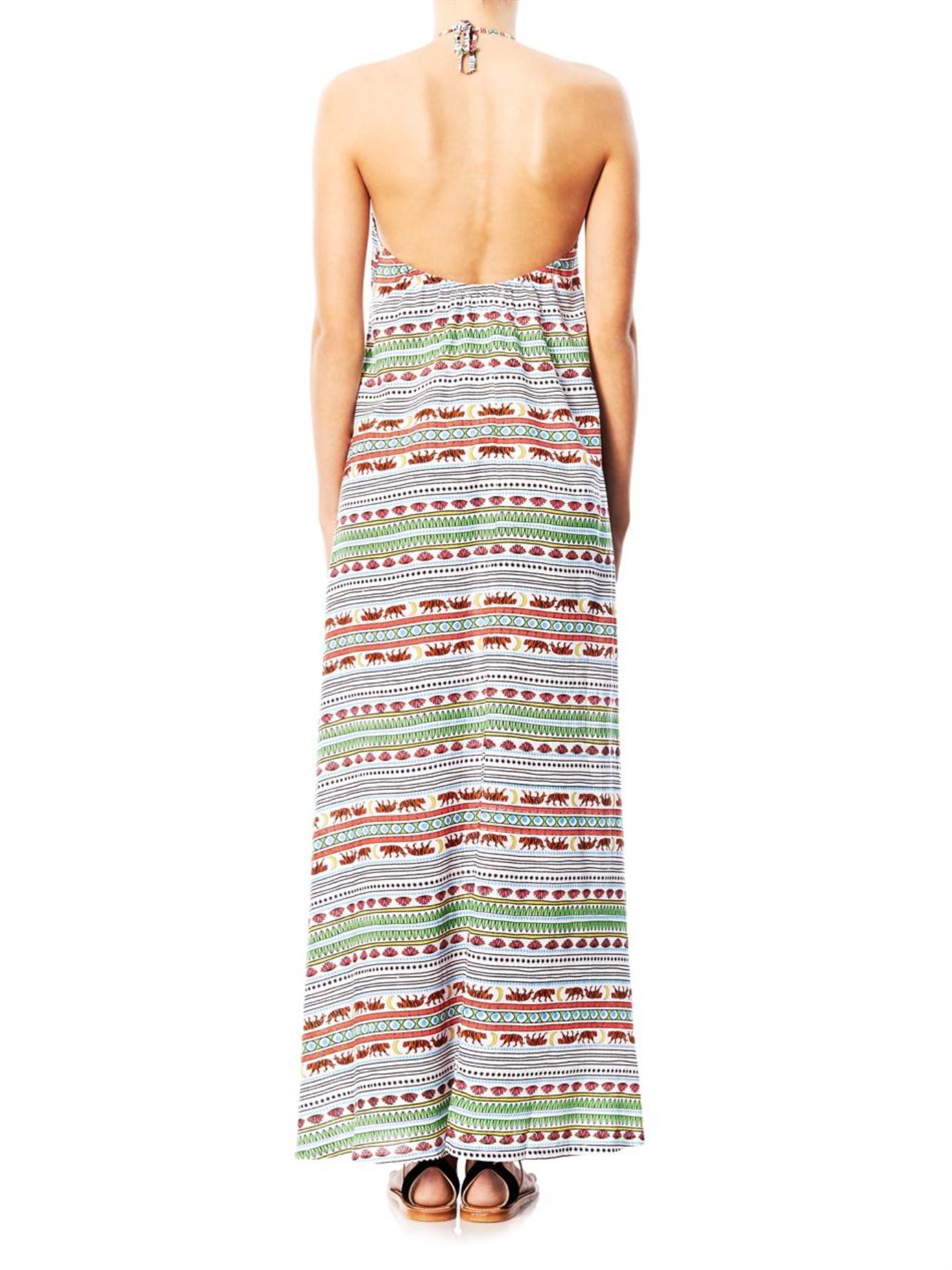 e0bfc33b59654 Lyst - Mara Hoffman Tiger Stripe-Print Maxi Dress in Orange