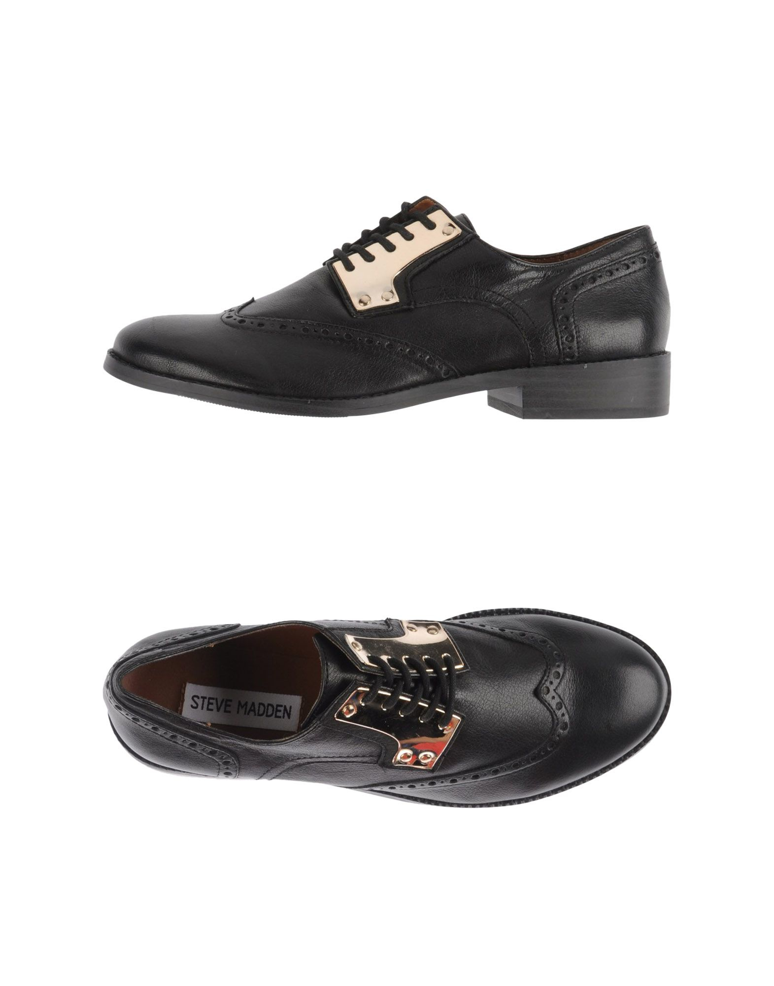 steve madden lace up shoes in black lyst